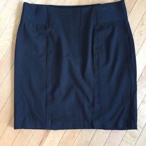 Rose & Ali Size XL Black Stretch Pencil Skirt